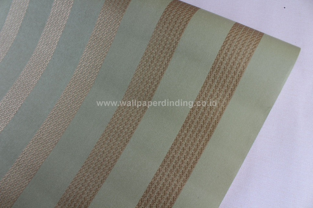 Wallpaper Dinding Garis Hijau Gold PR P7711-7 - Java Wallpaper