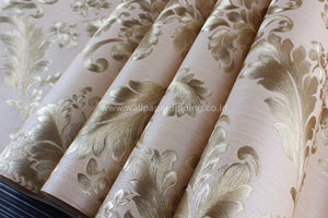 Wallpaper Dinding Batik Cream Emas DI 7805 - Java Wallpaper