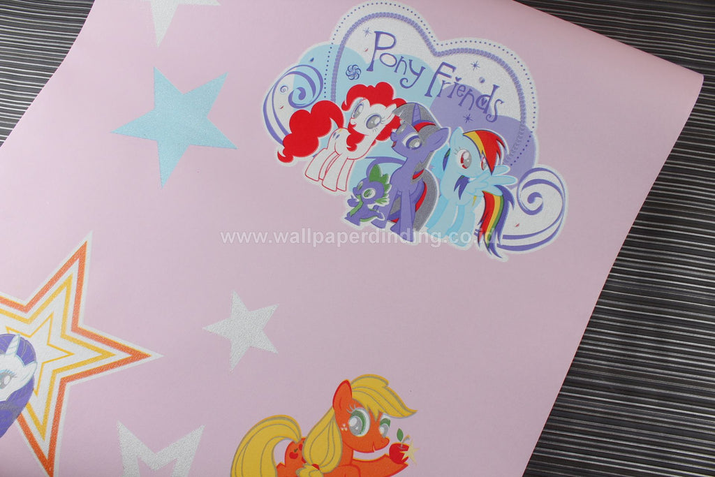 Wallpaper Dinding Anak Pony Pink YR-4421-4 - Java Wallpaper