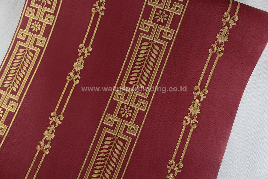 Wallpaper Dinding Batik Garis Merah RO-SO102 - Java Wallpaper