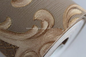 Wallpaper Dinding Batik Modern Minimalis Coklat Gold RO-SO106 - Java Wallpaper