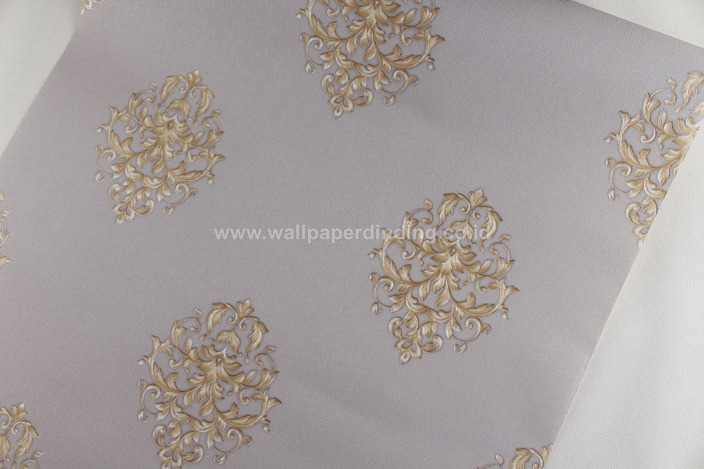 Wallpaper Dinding Batik Abu-abu Coklat RO UO110 - Java Wallpaper