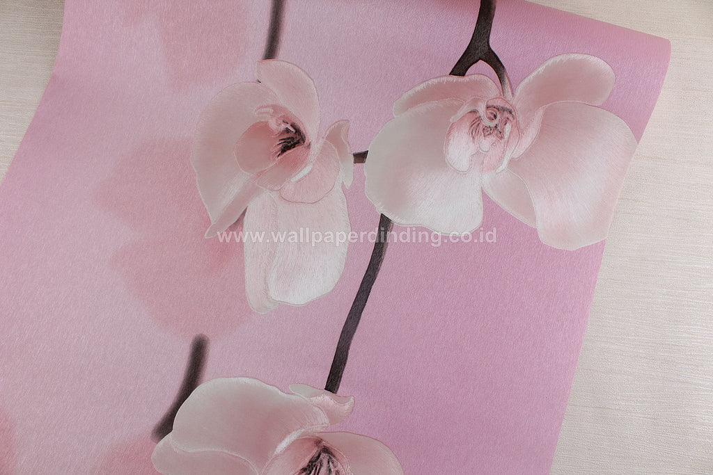 Wallpaper Dinding Bunga Pink RO119 - Java Wallpaper