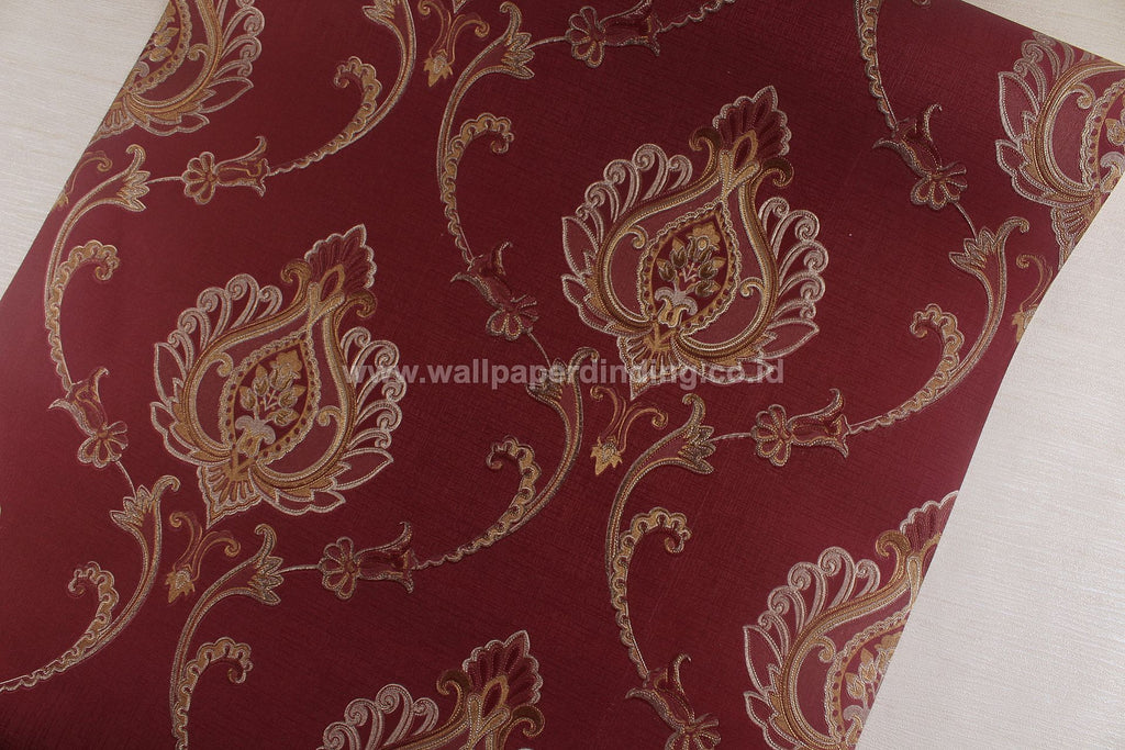 Wallpaper Dinding Batik Merah RO128 - Java Wallpaper