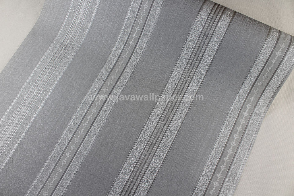 Wallpaper Dinding Batik Garis Abu-Abu Silver RO166 - Java Wallpaper