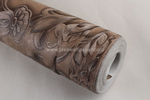 Wallpaper Dinding Batik Coklat RO107 - Java Wallpaper