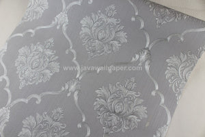 Wallpaper Dinding Batik Siver Abu-Abu RO165 - Java Wallpaper
