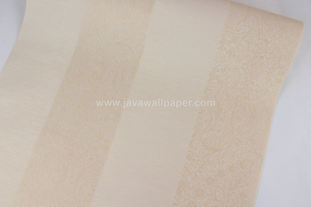 Wallpaper Dinding Batik Garis Cream SO111 - Java Wallpaper