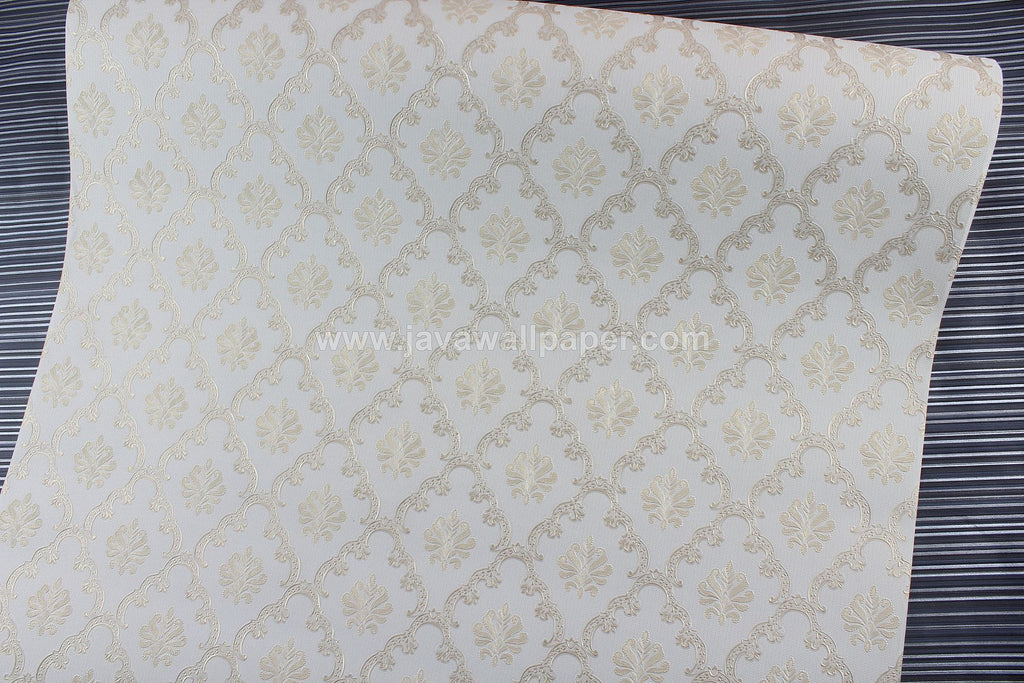 Wallpaper Dinding Batik Cream Gold D1808-2 - Java Wallpaper