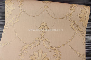 Wallpaper Dinding Batik Coklat Gold D3815-2 - Java Wallpaper