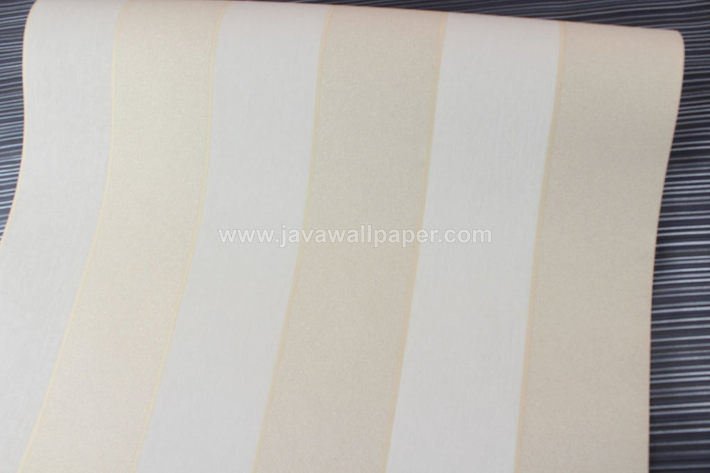 Wallpaper Dinding Garis Cream Gold D1818-3 - Java Wallpaper