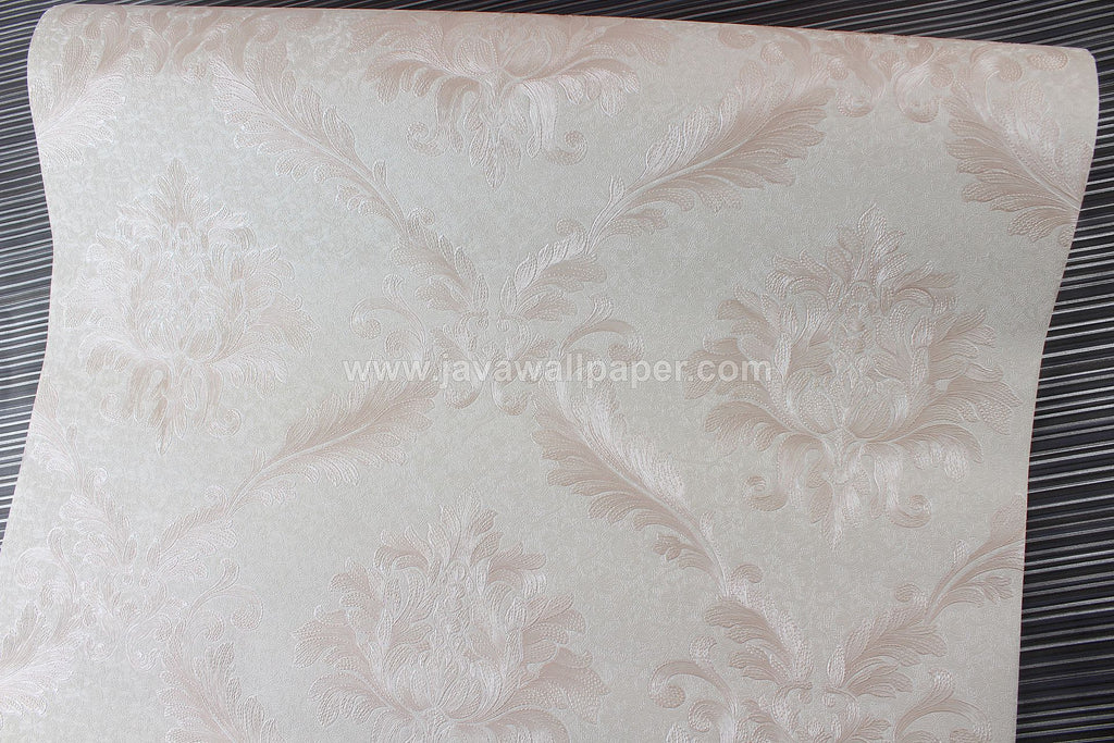 Wallpaper Dinding Batik Peach D1810-4 - Java Wallpaper