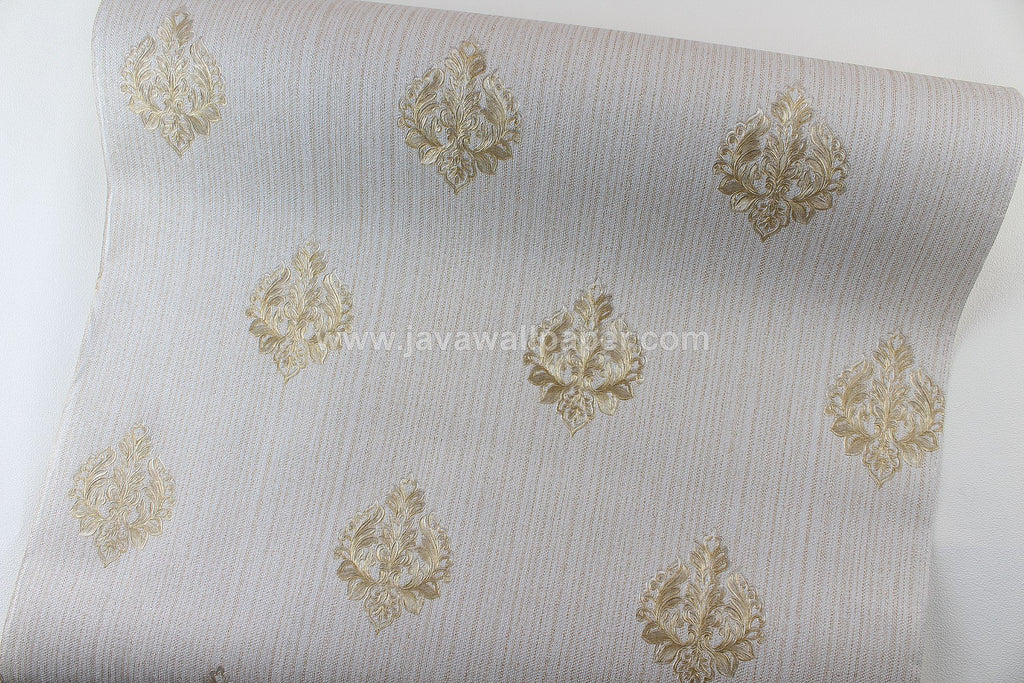 Wallpaper Dinding Batik Abu - Abu Gold CL D1802-1 - Java Wallpaper