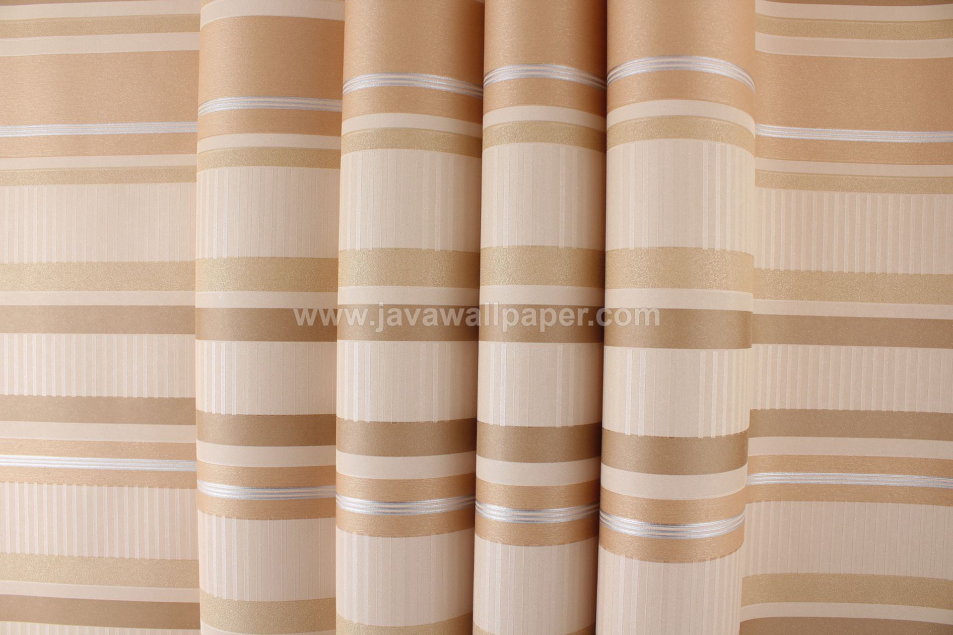 Wallpaper Dinding Garis Coklat Gold CL D2821-7 - Java Wallpaper