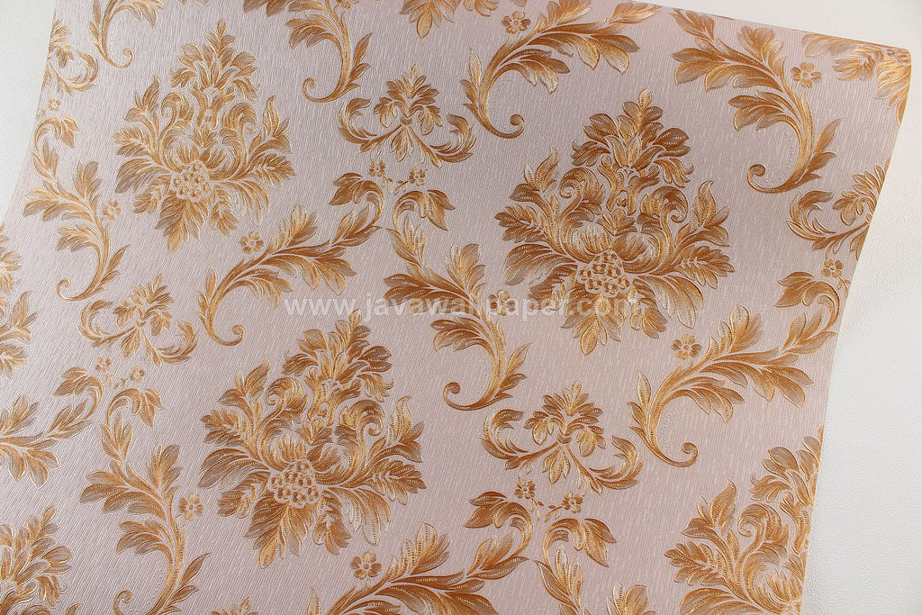 Wallpaper Dinding Batik Coklat Tua CL D1807-4 - Java Wallpaper