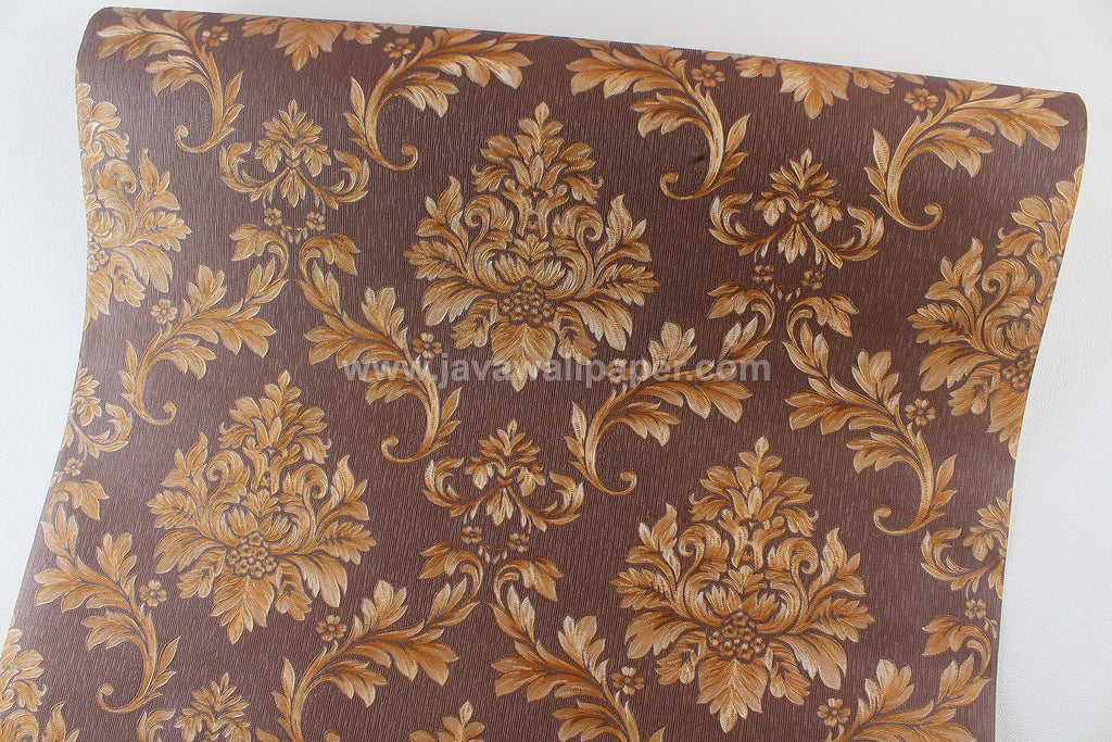 Wallpaper Dinding Batik Coklat Tua CL D1807-6 - Java Wallpaper