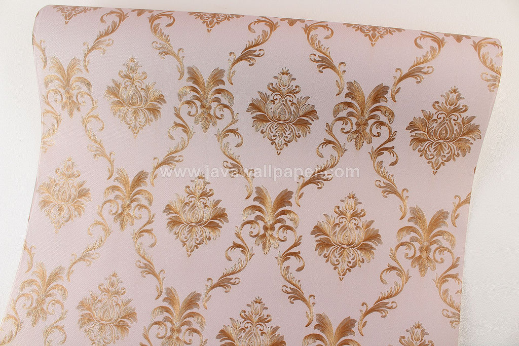 Wallpaper Dinding Batik Coklat Gold CL D1804-5 - Java Wallpaper