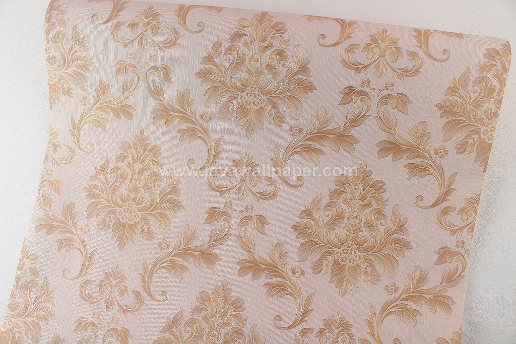 Wallpaper Dinding Batik Coklat CL D1807-3 - Java Wallpaper