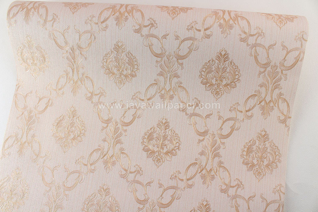 Wallpaper Dinding Batik Coklat CL D1801-3 - Java Wallpaper