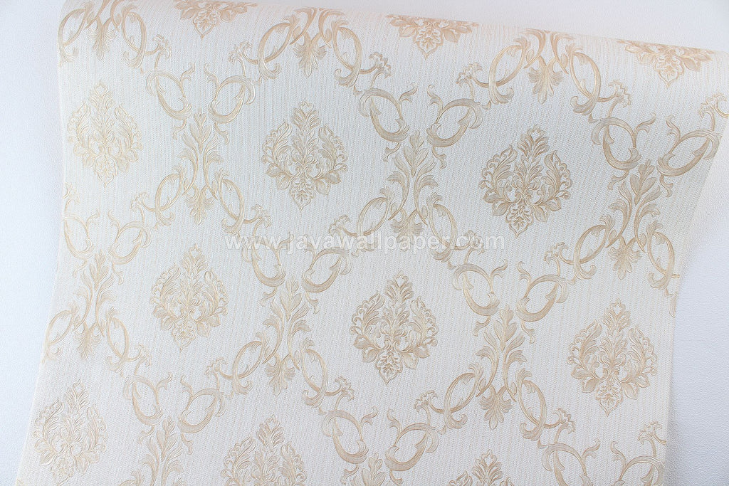 Wallpaper Dinding Batik Putih Tulang Cream CL D1801-1 - Java Wallpaper
