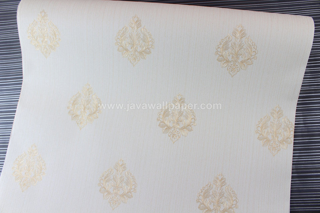 Wallpaper Dinding Batik Cream Gold CL D1802-3