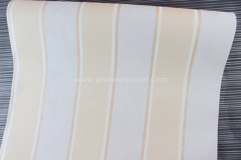 Wallpaper Dinding Garis Cream Abu CL D2830-1