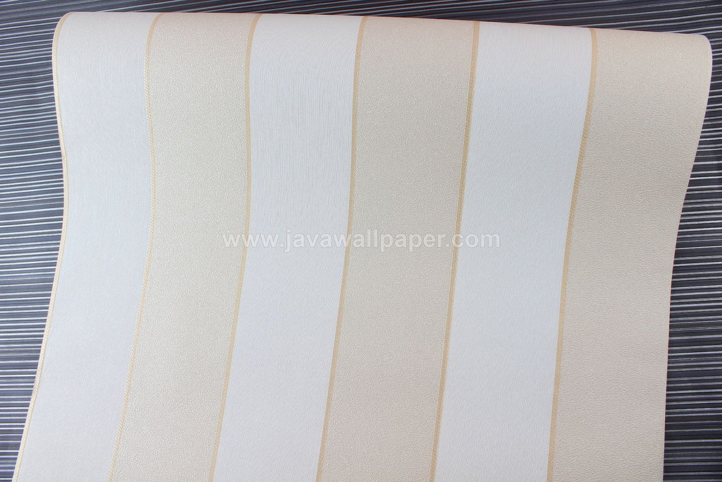Wallpaper Dinding Garis Putih Cream CL D2836-1