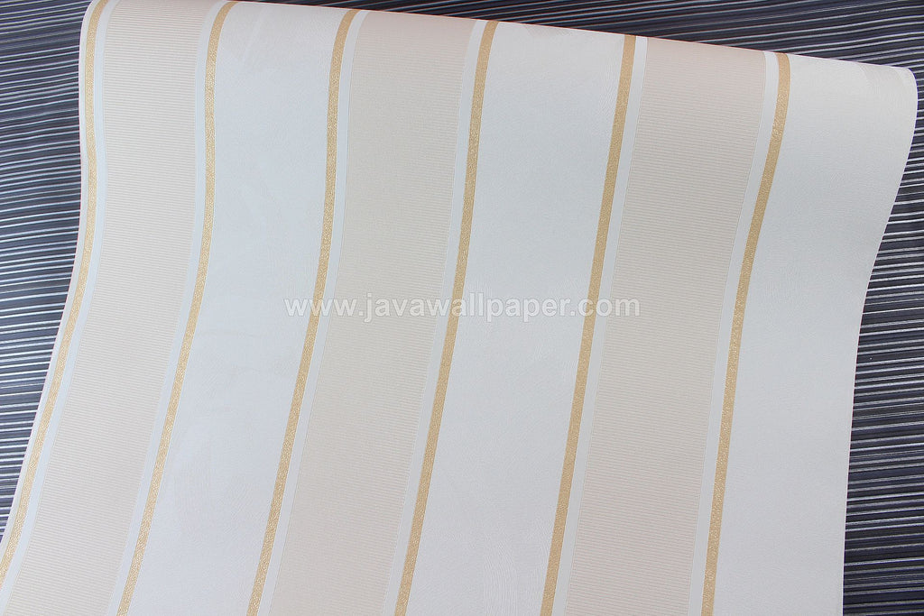 Wallpaper Dinding Garis Cream Gold CL D2830-3