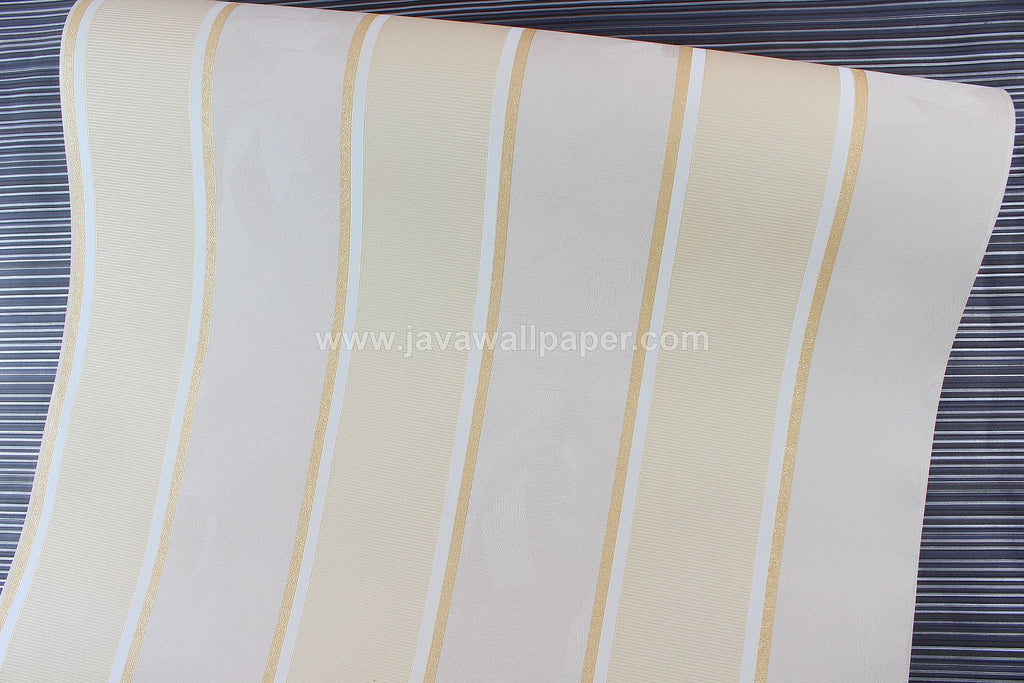 Wallpaper Dinding Garis Coklat Gold CL D2830-5