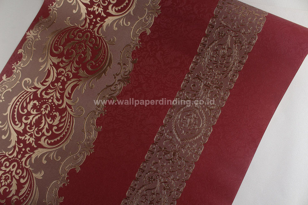 Wallpaper Dinding Batik Merah RO UO106 - Java Wallpaper