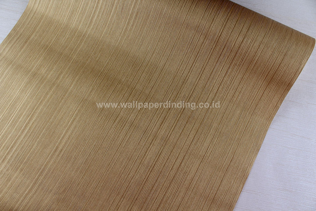 Wallpaper Dinding Polos Serat Garis Gold PR P7718-3 - Java Wallpaper