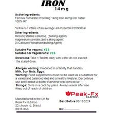 Load image into Gallery viewer, Iron 14mg - 120 Tablets - One-a-Day, T