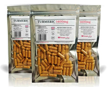Load image into Gallery viewer, TURMERIC 1400 Mg Curcumin Vegan +bioperine High Strength Tumeric Capsules - Peak FX Nutrition