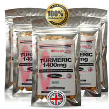 Load image into Gallery viewer, Max Strength Turmeric -1400 Mg +BioPerine 100 Capsules Curcumin Vegan Tumeric