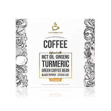 HIGH PERFORMANCE COFFEE CARAMEL (30 Pack) - Vegan Supply