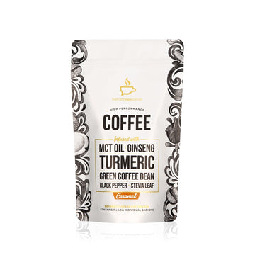 HIGH PERFORMANCE COFFEE CARAMEL (7 PACK) - Vegan Supply
