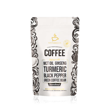 HIGH PERFORMANCE COFFEE UNSWEETENED (7 PACK) - Vegan Supply