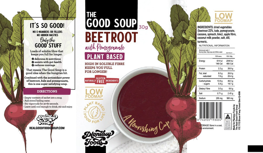 THE GOOD SOUP: Beetroot and Pomegrante - Vegan Supply