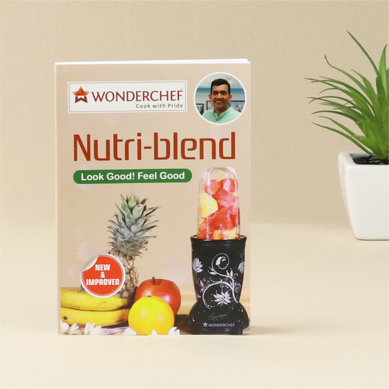 Nutri-blend, 400W, 22000 RPM Mixer-Grinder, Blender, SS Blades, 2 unbreakable Jars, 2 Years warranty, Champagne, includes Exclusive Recipe book by Chef Sanjeev Kapoor