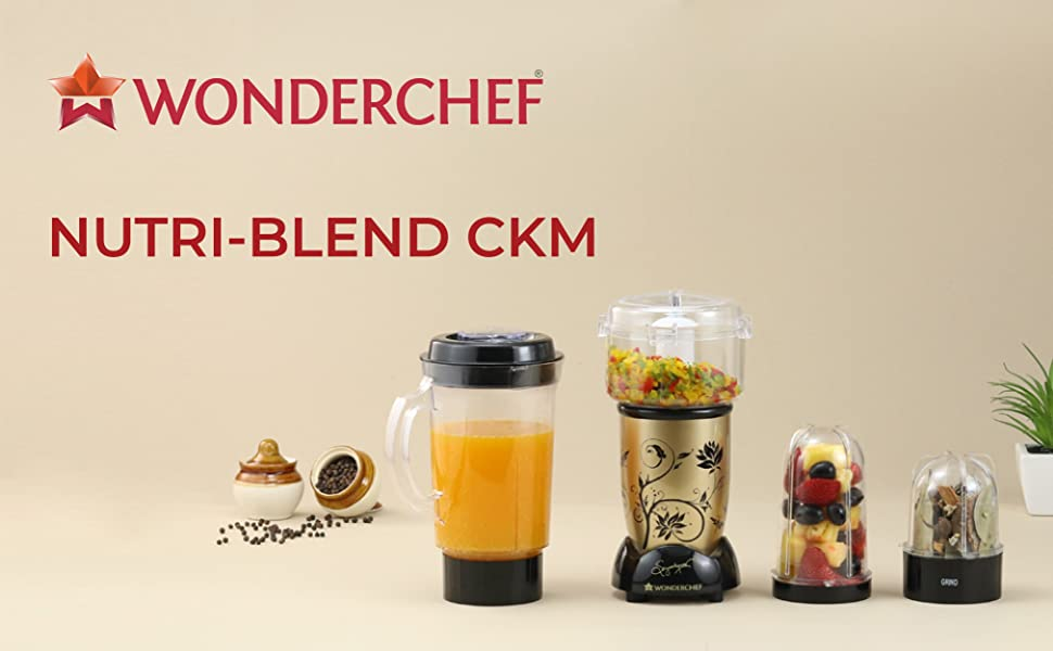 Wonderchef  Nutri-Blend Complete Kitchen Machine (CKM) - (Mixer, Grinder, Juicer, And Chopper)