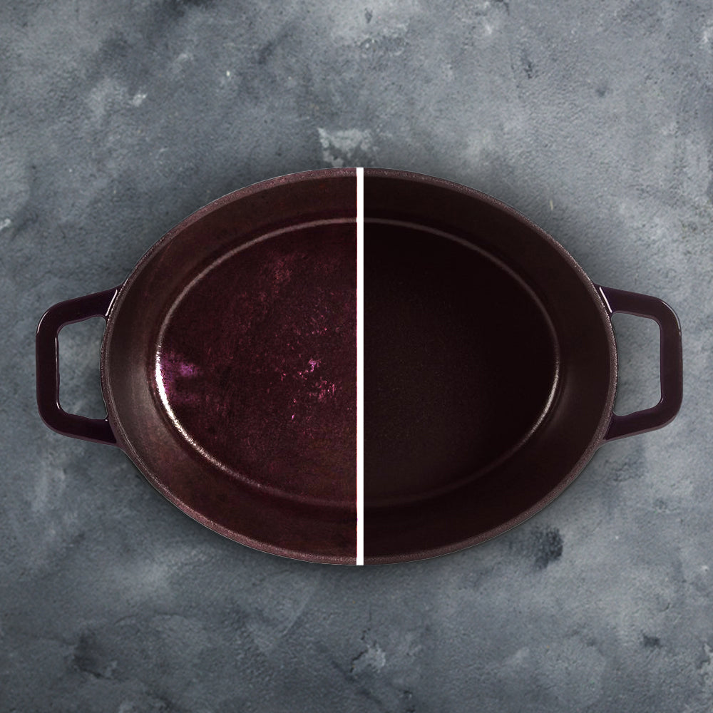 Ferro Cast-iron Oval Casserole with Lid- 29cm, 4.5mm