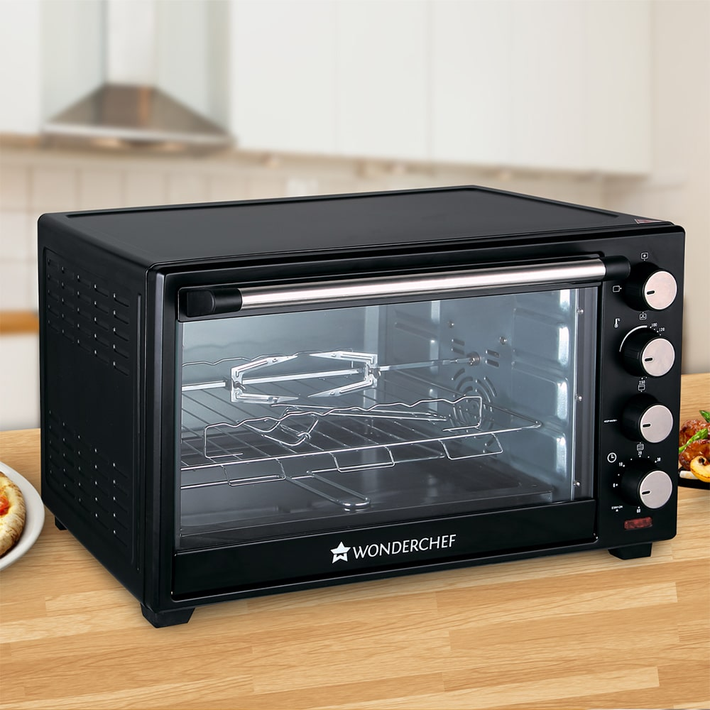 Wonderchef 40L Oven Toaster Griller OTG, Black