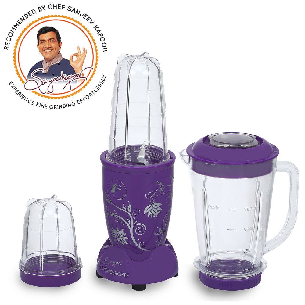 Wonderchef Nutri-Blend Purple With Jar