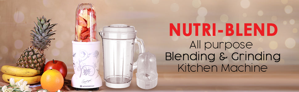Wonderchef Nutri-Blend White With Jar