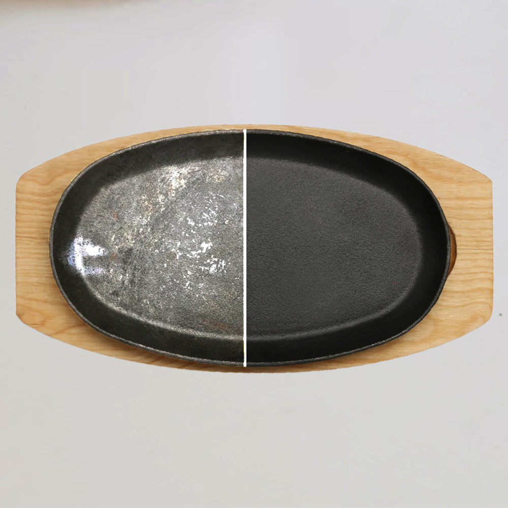 Wonderchef Ferro Cast-Iron Sizzler Plate- 23cm, Black