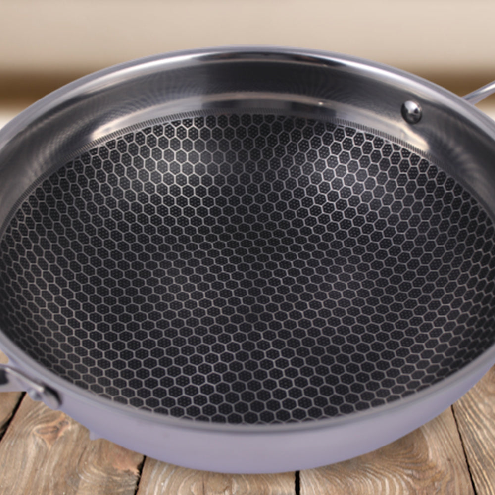 Wonderchef Stanton Non-Stick Kadhai With Lid 24cm