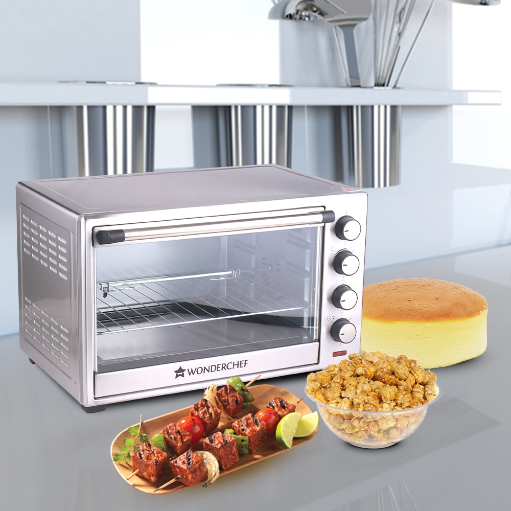 Oven Toaster Griller (OTG) - 60 Litres, Stainless Steel – with Rotisserie, Auto-shut off, heat-resistant tempered glass, 6-stage heat selection