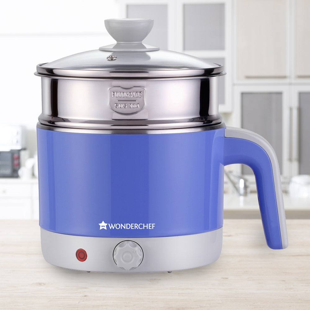 Wonderchef Luxe Multicook Kettle Blue 1.2 Litre