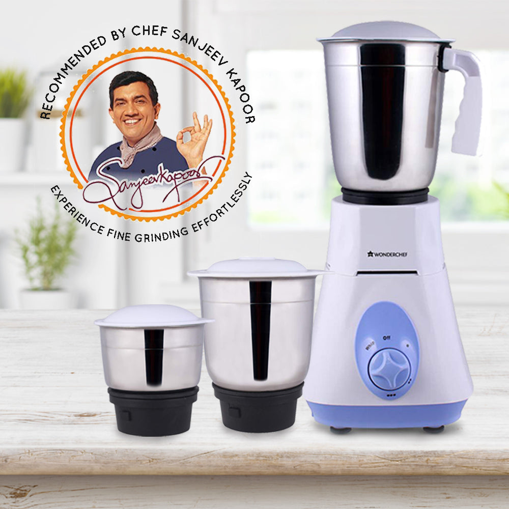Wonderchef Vietri Mixer Grinder Blue 500W