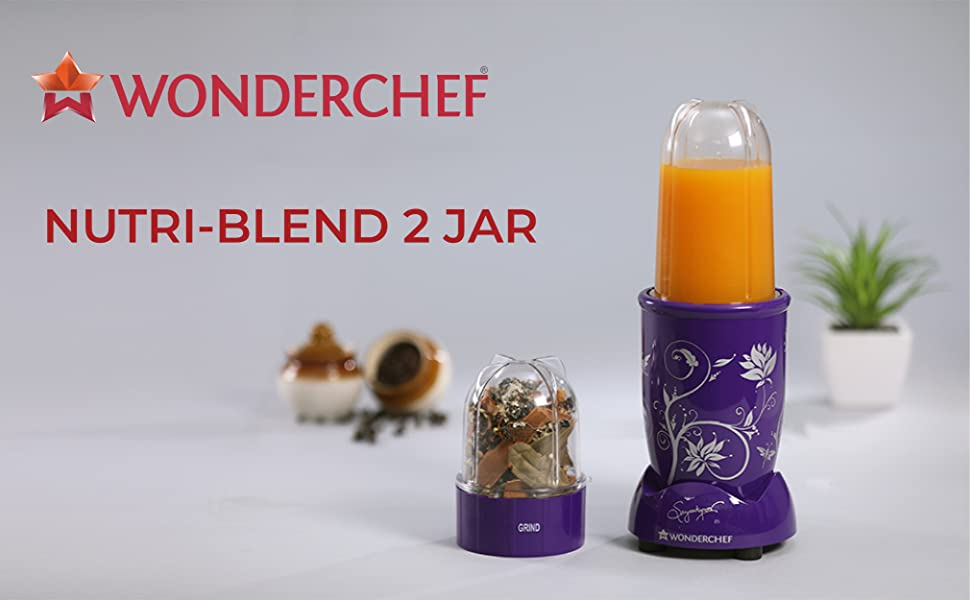 Wonderchef Nutri-Blend Mixer Grinder With 2 Jars